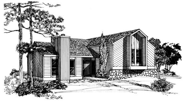 Contemporary House Plan 95091 Elevation