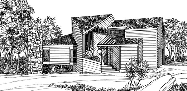 Contemporary House Plan 95092 Elevation