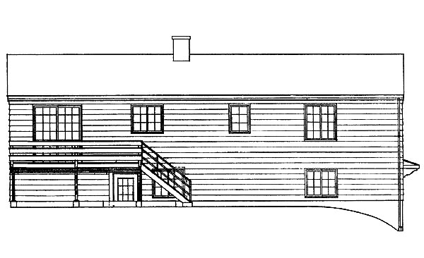Ranch House Plan 95098 Rear Elevation