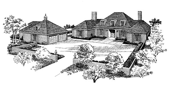 Traditional House Plan 95110 Elevation