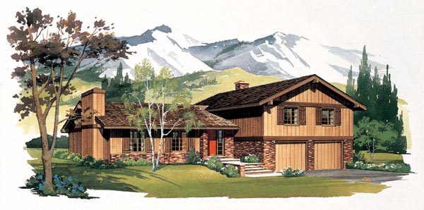 Ranch House Plan 95128 Elevation