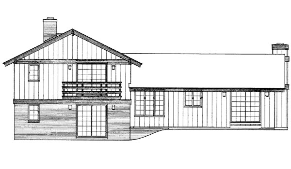 Ranch House Plan 95128 Rear Elevation