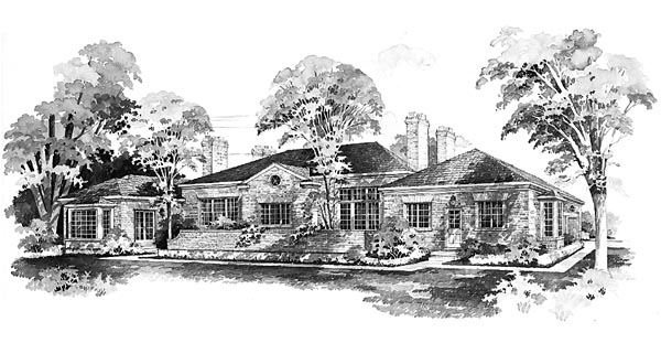 Colonial House Plan 95143 Rear Elevation
