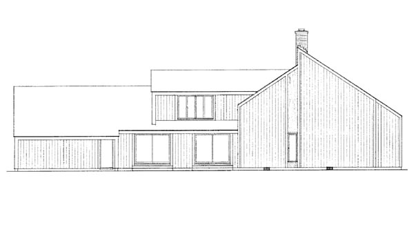 Contemporary House Plan 95147 Rear Elevation