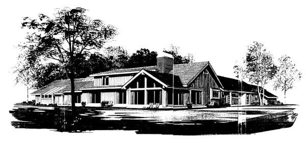 Ranch House Plan 95159 Rear Elevation