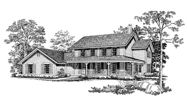 Country Farmhouse House Plan 95164 Elevation