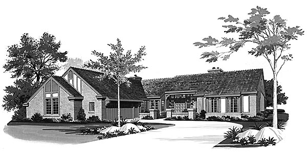 Ranch House Plan 95167 Elevation