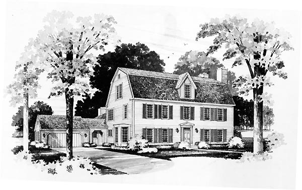 Colonial House Plan 95174 Elevation