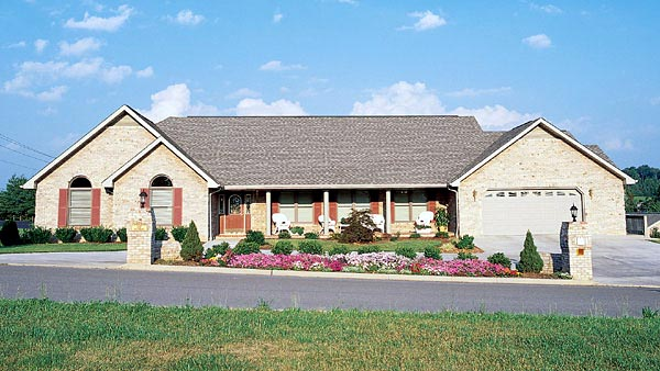 Ranch House Plan 95184 Elevation