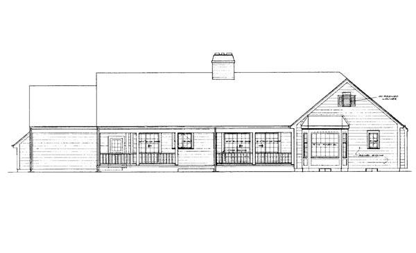 Ranch House Plan 95184 Rear Elevation