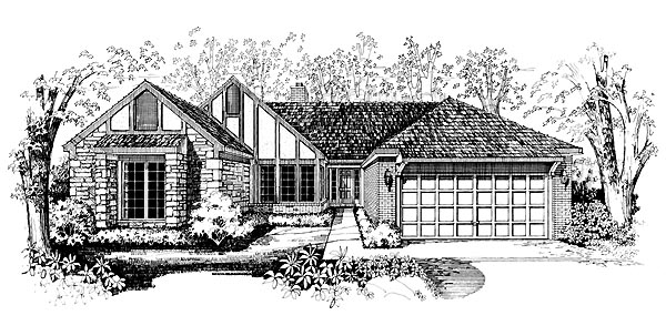Ranch House Plan 95190 Elevation