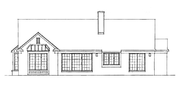 Ranch House Plan 95190 Rear Elevation