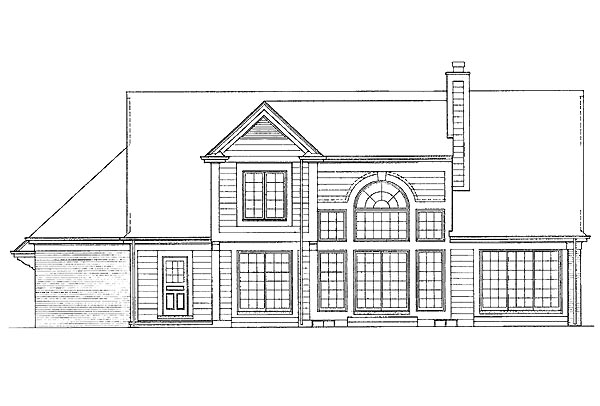Traditional House Plan 95207 Rear Elevation