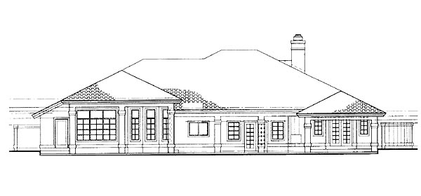 Traditional House Plan 95210 Rear Elevation