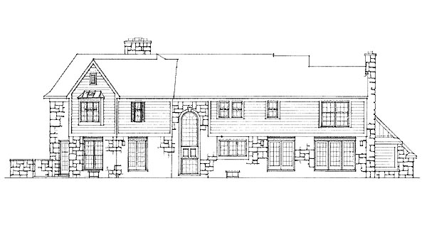 Traditional House Plan 95233 Rear Elevation