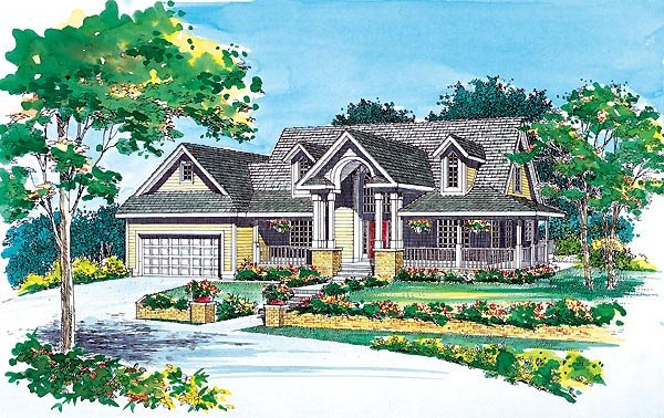 Country Farmhouse House Plan 95240 Elevation
