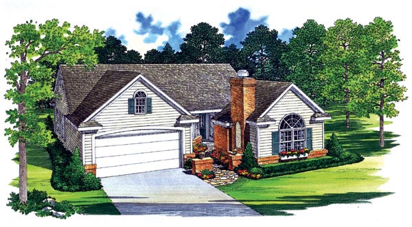 Traditional House Plan 95246 Elevation