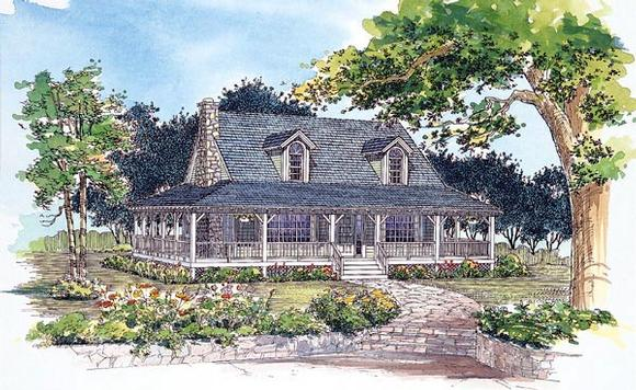 Country House Plan 95250 with 3 Beds, 3 Baths Elevation