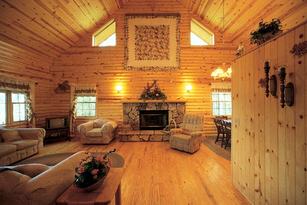 Cabin, Ranch House Plan 95255 with 2 Beds, 3 Baths Picture 1