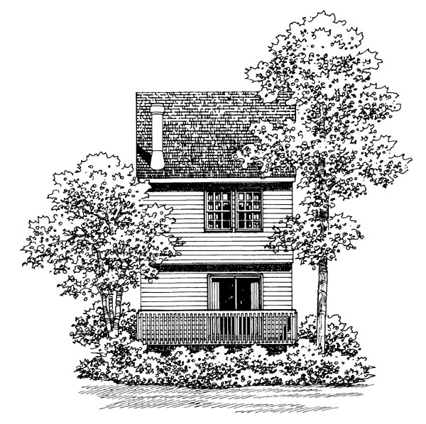 Traditional House Plan 95265 Rear Elevation