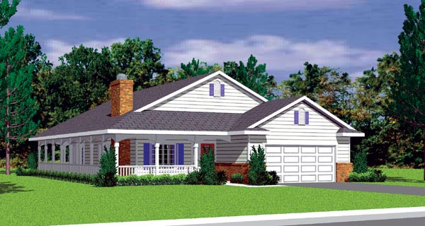 Ranch House Plan 95273 Elevation