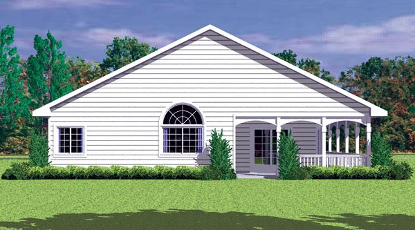 Ranch House Plan 95273 Rear Elevation