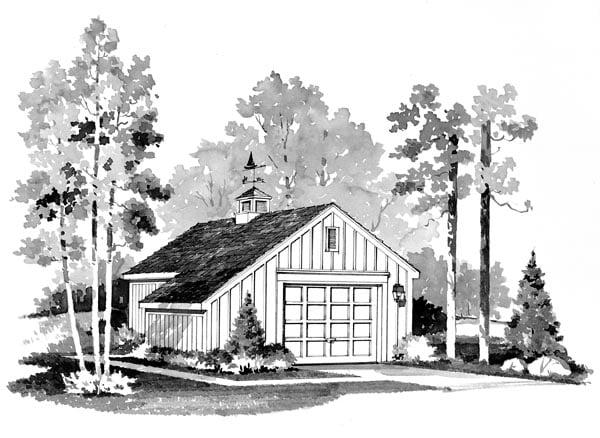 Garage Plan 95284 Elevation