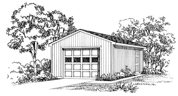 Garage Plan 95290 Elevation