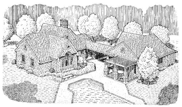 Country Craftsman House Plan 95506 Rear Elevation