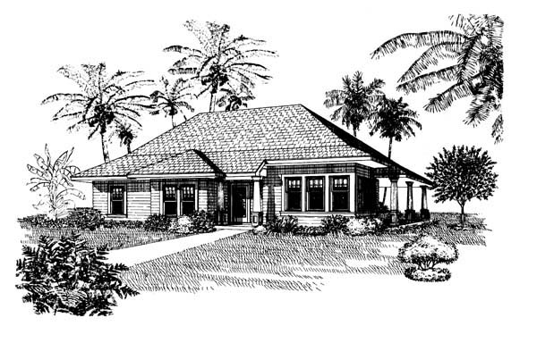 Country Southern House Plan 95521 Elevation