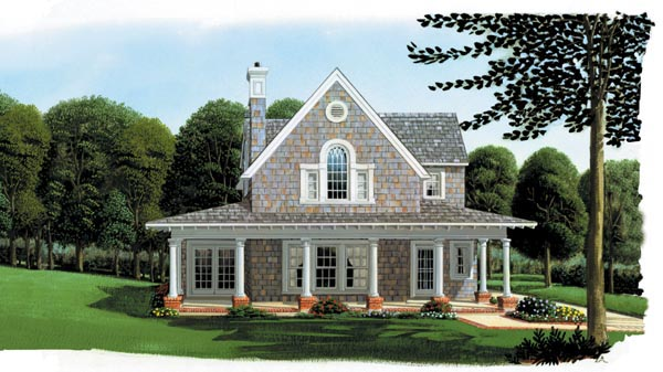 Cottage country craftsman farmhouse house plan 95541 for Country and farmhouse home plans