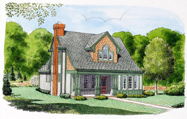 Country House Plan 95554 Elevation