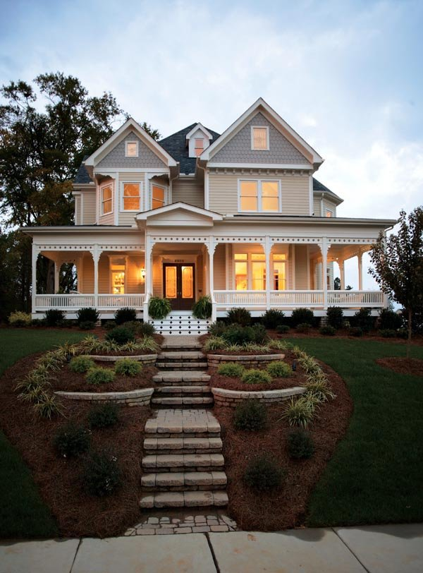 House Plan At FamilyHomePlanscom - Victorian house plans and homes