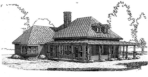 Country Farmhouse Victorian House Plan 95582 Rear Elevation
