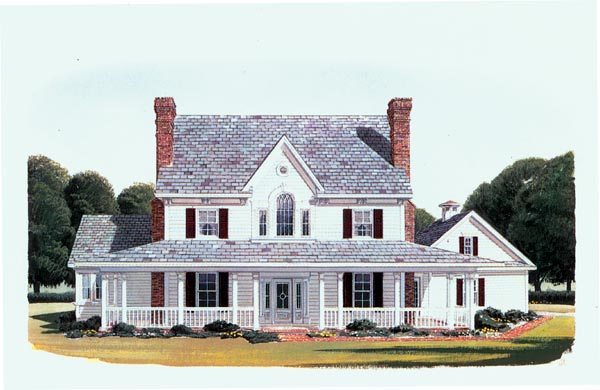 Country Farmhouse House Plan 95588 Elevation