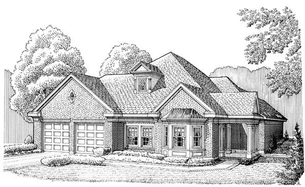 Country European House Plan 95589 Elevation
