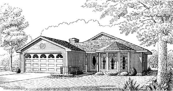 Country Victorian House Plan 95597 Elevation