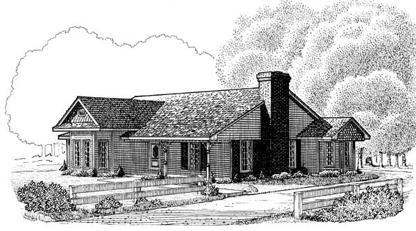 Country Victorian House Plan 95604 Elevation