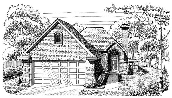 Cottage Country House Plan 95608 Elevation