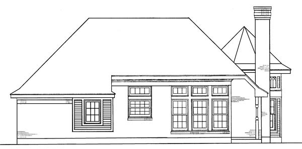 Country Victorian House Plan 95614 Rear Elevation