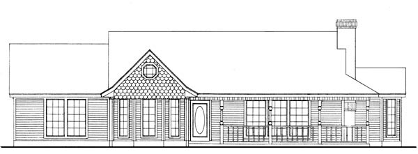 Country Farmhouse Victorian House Plan 95616