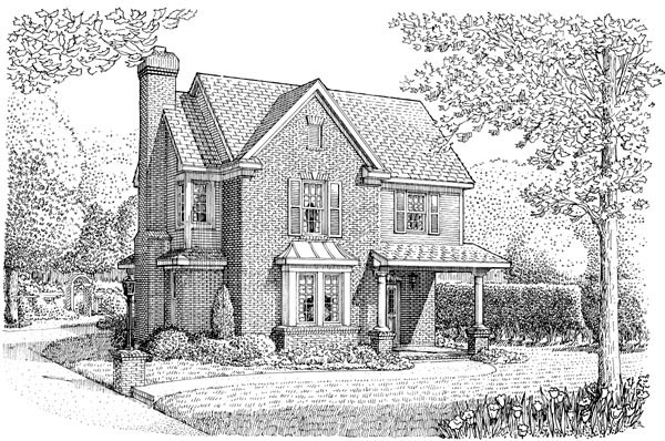 Country, European House Plan 95631 with 3 Beds, 3 Baths, 2 Car Garage Elevation