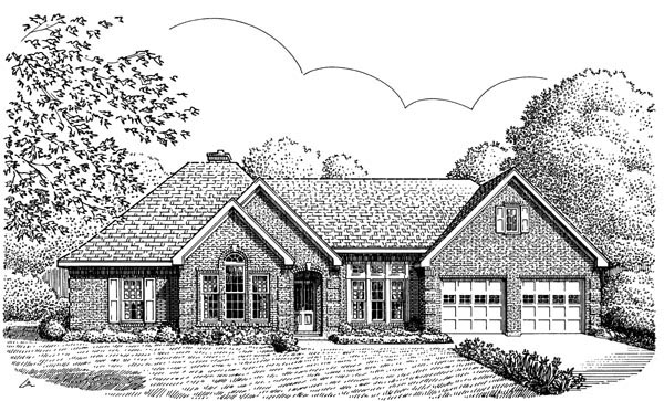 European House Plan 95653 Elevation