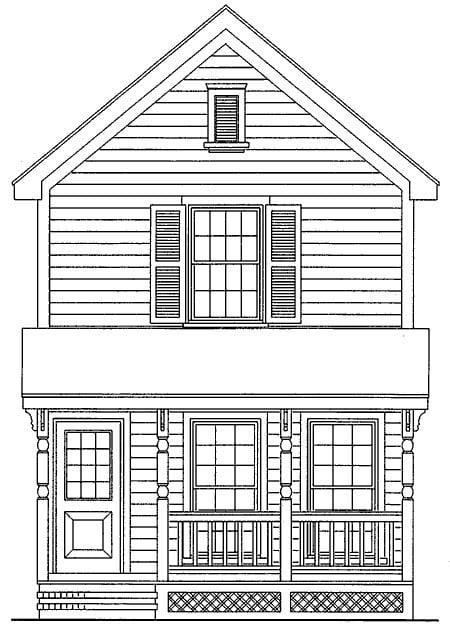 House Plan 95707 Elevation