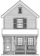 Plan Number 95707 - 1050 Square Feet