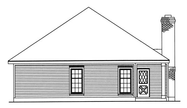 Country Southern House Plan 95711 Rear Elevation