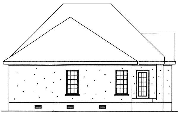 Bungalow Cottage Craftsman House Plan 95713 Rear Elevation