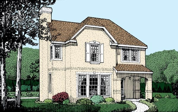 Country European House Plan 95715 Elevation