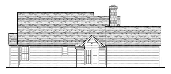 Country Southern House Plan 95737 Rear Elevation