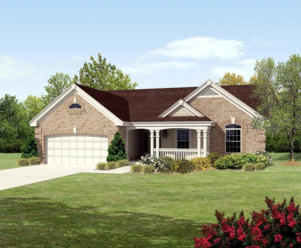 Country, Traditional House Plan 95801 with 3 Beds, 2 Baths, 2 Car Garage Elevation